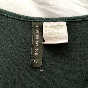 Mothers en Vogue Dresses - Green maternity dress tank top
